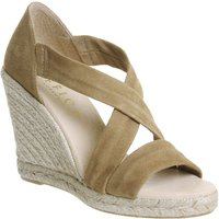 Office Holiday Cross Front Espadrille Wedges, Camel
