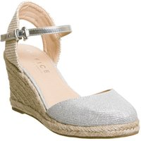 Office Mamacita Closed Toe Espadrilles, Silver
