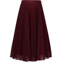 Jolie Moi Lace Pleated A-line Skirt, Red