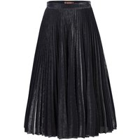 Jolie Moi Metallic Pleated A-Line Skirt, Silver Silverlic