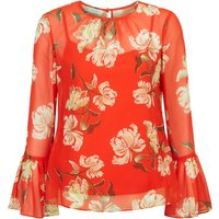 Hobbs Malin Blouse, Red Multi