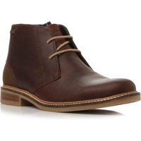 Barbour Redhead Plain Toe Lace Up Chukka Boots, Dark Brown