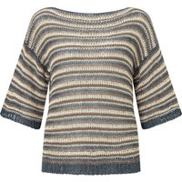 James Lakeland Lurex Stripe Knit Jumper, Grey