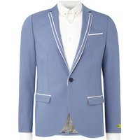 Mens Noose and Monkey Liverpool suit jacket, Blue