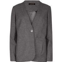 Jaeger Pleat Pocket Detail Jacket, Grey