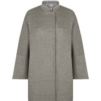 Jaeger Double Face Internal Check Cape Coat, Grey