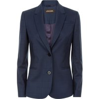 Jaeger Windowpane Tailored Jacket, Blue