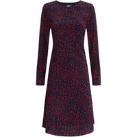 Jaeger Ditsy Print Flare Dress, Blue