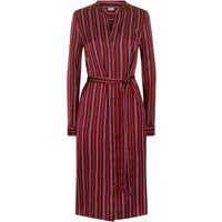 Jaeger Multi Stripe Belted Tunic Dress, Red
