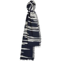 Jaeger Texture Woven Scarf, Blue