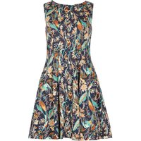 Izabel London Forest Walk Sleeveless Dress, Blue