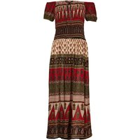 Izabel London Paisley Bardot Dress, Multi-Coloured
