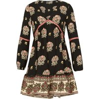 Izabel London Floral Print Gypsy Dress, Multi-Coloured