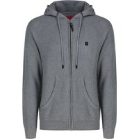 Men's Luke 1977 Gert Lush Zip Through Knitted Hoody, Grey