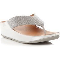 FitFlop Crystall toe post sandals, Silver