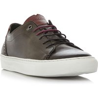 Ted Baker Kiing burnished cupsole trainers, Grey