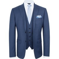 Men's Paul Costelloe Slim Fit Blue Micro Check Suit Jacket, Blue