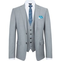 Mens Paul Costelloe Slim Fit Grey Melange Suit Jacket, Grey