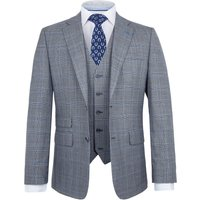 Mens Paul Costelloe Walsh Wool Checked Suit, Grey
