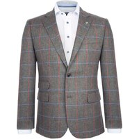 Mens Paul Costelloe Collins Checked Wool Jacket, Green