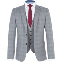 Mens Paul Costelloe Mason Slim-Fit Checked Suit, Grey