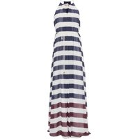 Ted Baker Aloes Rowing Stripe Bar Detail Maxi Dress, Blue