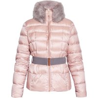 Ted Baker Junnie Faux Fur Collar Quilted Jacket, Pink