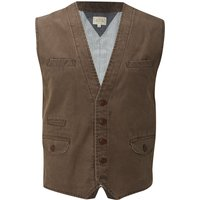 Men's White Stuff Crafted Waistcoat, Mink