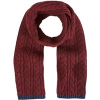 White Stuff Ralph Cable Scarf, Red