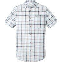 Men's Craghoppers Holbrook Short Sleeved Check Shirt, Dark Grey