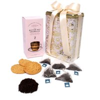 Floric Earl Grey Tea With Butter Oat Crumble Biscuits, Grey
