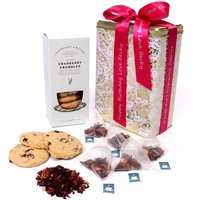 Floric Red Berry Fruit Teas & Cranberry Crumble Biscuits, Red