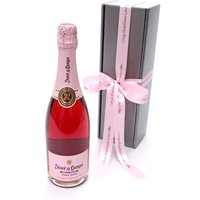 Floric Personalised rose pink cava rosé wine gift box, Pink