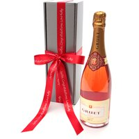 Floric Rose Pink Gruet Rosé Champagne Gift Box, Pink