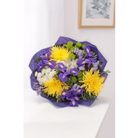 Floric Yellow Bloom & Iris Bouquet, Yellow