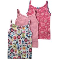 Mini Vanilla Girls 3 Pack Of Vests, Pink