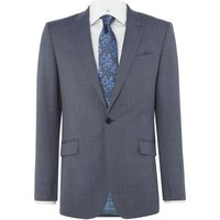 Mens Richard James Mayfair Sharkskin Daniel Suit Jacket, Slate