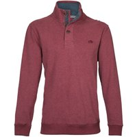 Men's Raging Bull Big & Tall Button-Up Jersey Sweater, Red