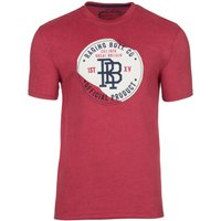 Men's Raging Bull Big & Tall Monogram Applique Tee, Red
