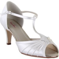 Rainbow Club Katy satin peep toe shoes, Cream