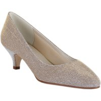 Rainbow Club Winnie metallic sparkly mid heel shoes, Silverlic