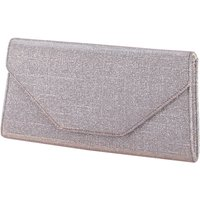 Rainbow Club Rainbow club saskia metallic clutch bag, Silverlic