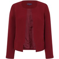 HotSquash Collarless Jacket in Clever Fabric, Red