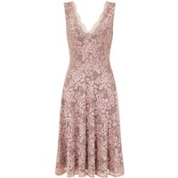 HotSquash Sleeveless V Neck Lace Dress, Pink - Seek Gifts