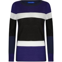 Winser London Merino Wool Colour Block Jumper, Blue