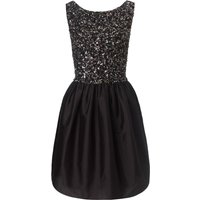 Ariella Black freya beaded prom short dress, Black