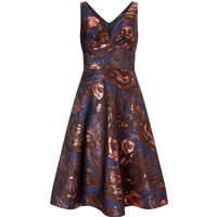 Ariella Azia Jacquard Prom Fit & Flare Dress, Multi-Coloured