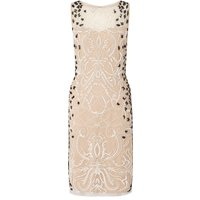 Ariella Dionne short beaded dress, Nude