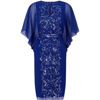 Ariella Enid batwing beaded front dress, Blue
