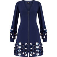 Ariella Vienna Short Sequin Zip Dress, Blue